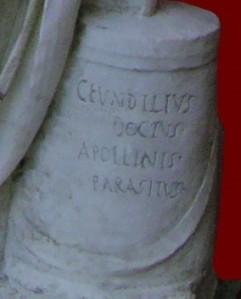 Inscription from statue of Fundilius, Ny Calsberg Glyptotek, Copenhagen. Hans Ollerman CC